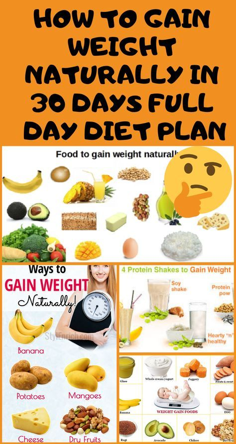 healthy weeks diet weight gain