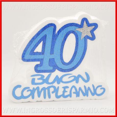 Numero 40 Anni Uomo Centro Tavola Decorazione Polistirolo Per Festa Buon Compleanno Blu Idee Originali Buon Compleanno Festa Uomo Compleanno