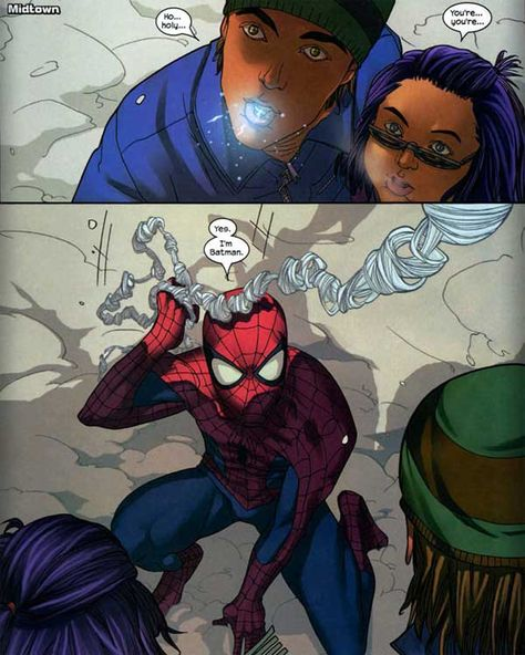 Just another reason to love Spider-Man. :)