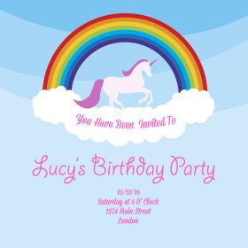 FREE Unicorn Party Invitations