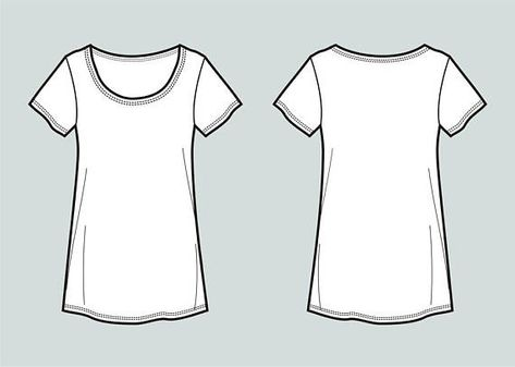 T-shirt vector fashion flat sketch.$1.99. Adobe Illustrator design, technical outline, flat drawing, digital clip art (eps, ai, jpg, png file) #top #tshirt #teeshirt #fashionflat #flatsketch #vectorflat #digital #technicaldrawing #technicaloutline #clothesdrawing #clothingsketch #illustration #tshirtdrawing #tshirtsketch