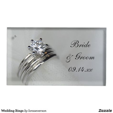 Wedding Rings Table Number Holder Zazzle Com Wedding Table