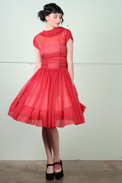 I want to wear this ruby red dress.
