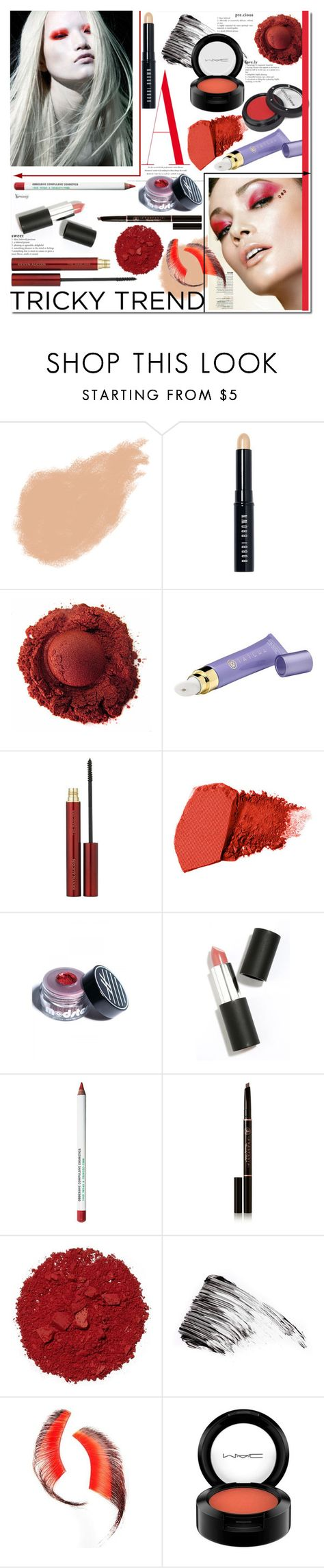 """""""Red Eye Makeup"""" by naomimjc ❤ liked on Polyvore featuring beauty, Bobbi Brown Cosmetics, Tatcha, Kevyn Aucoin, Jane Iredale, Ardency Inn, Sigma Beauty, Obsessive Compulsive Cosmetics, Anastasia Beverly Hills and Illamasqua"""
