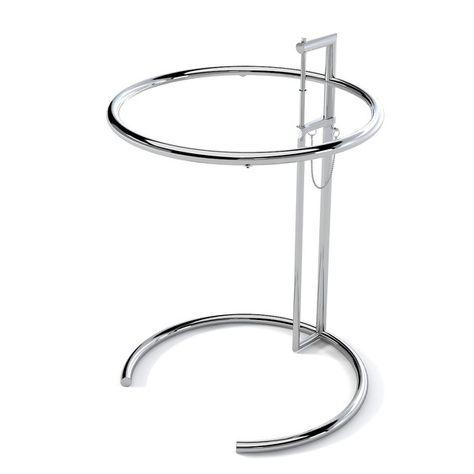 Der 1927 entworfene Tisch verdankt seinen Namen dem Ferienhaus von Eileen Grey, dem E 1027 Maison en Bord de Mer. Die symmetrischen Formen und der innovative Look schaffen ein exklusives Design, dem es an Funktionalität nicht fehlt. Der stilvolle Tisch ist kompakt und höhenverstellbar.  Adjustable Table bei Dimensione für nur € 165,00  http://www.dimensione-bauhaus.com/de/bauhaus/produkt/7-couchtisch/