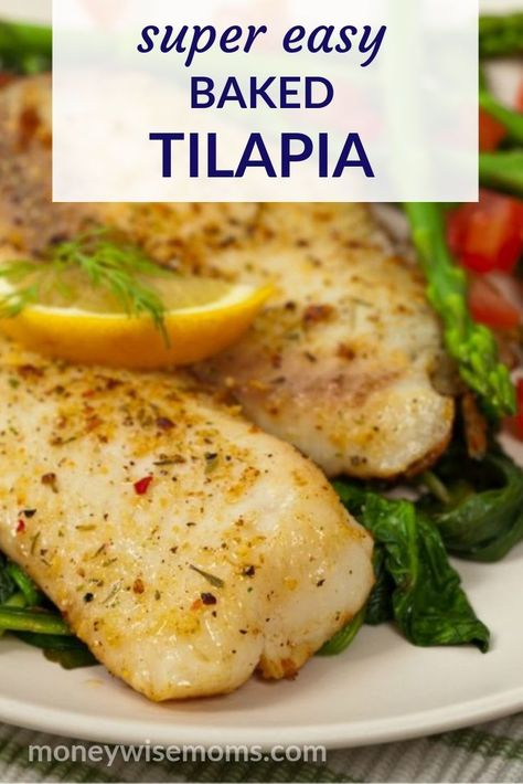 Get dinner on the table fast with this super easy Baked Tilapia recipe that kids will love Simple fish dinner recipe easyfamilymeals bakedtilapia fishdinner tilapiarecipes moneywisemoms Tilapia Recipe Oven, Tilapia Fish Recipes, Seafood Recipes, Seafood Appetizers, Healthy Easy Fish Recipes, Fish Recipes Tilapia Easy, Baked Tilapia Recipes Healthy, Oven Baked Tilapia, Fish Recipes For Kids