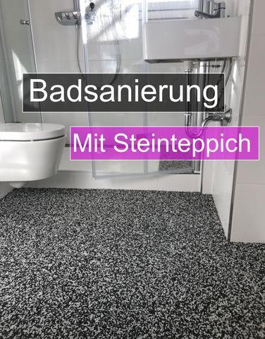 Badsanierung Mit Steinteppich Bodenbelag Bad Altbau Sanieren Bodenbelag