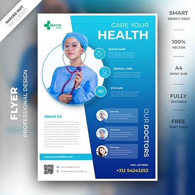 A High Quality Unique Design Template By A Professional Designer Download Your Flyer Now Smart Objec Medical Posters Flyer Design Social Media Campaign Design