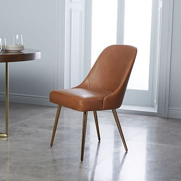 Mid Century Leather Dining Chair Metal Legs Westelm Mid Century Leather Dining Chairs Leather Dining Chairs Mid Century Dining Chairs
