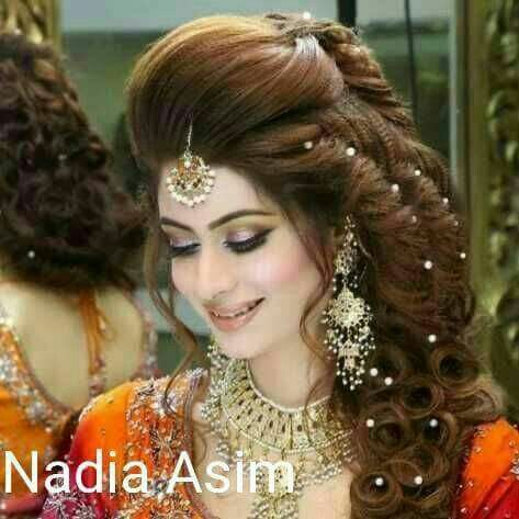 Pin By Kamisho Shahida On Hair Styles Hair The Natrual Jewel Of A Woman Bridal Makeup Hairstyle For Wedding Day Kashees Hairstyle