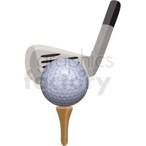 Golf Ball On Tee Vector Clipart Royalty Free Clipart 409512 Clip Art Vector Clipart Clipart Design