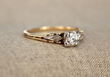 100 Simple Vintage Engagement Rings Inspiration (21