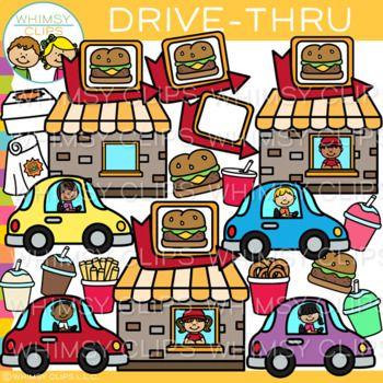 Drive Thru Clip Art Fast Food Clip Art Art Bundle Food Illustration Art Clip Art
