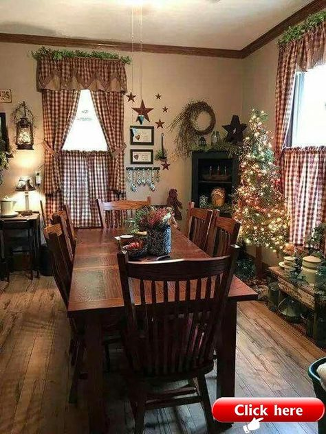 Home Country Decor Love This In 2019 Primitive Dining Rooms Homes rustic Farmhouse Decor, Country Dining Rooms, Primitive Dining Rooms, Primitive Decorating Country, Primitive Kitchen, Primitive Living Room, Home Decor, Farmhouse Dining, Country House Decor