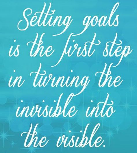 monthly goal setting example