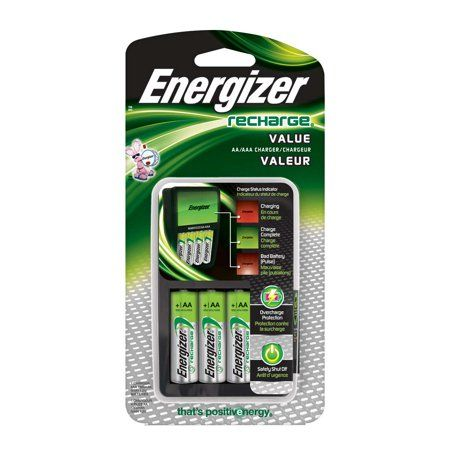 Energizer Recharge Value Charger For Nimh Rechargeable Aa And Aaa Batteries Walmart Com Rechargeable Batteries Energizer Battery Energizer