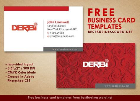 Best Business Cards Images On Pinterest Business Card Design - Double sided business card template photoshop