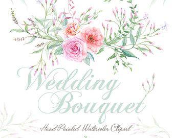 Guirnalda de acuarela de boda y Ramos de flores. por ReachDreams