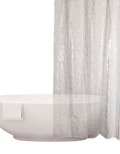 Distinctly Home Frosted Bubbles Shower Curtain Clear Curtains