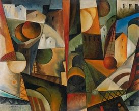 Albert Gleizes, Paysage cubiste, 1914