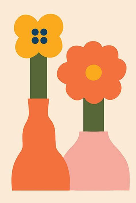 Modern Flower Wall Art| Minimalist Abstract Print| Minimal Abstract Art| Scandinavian Poster| Modern