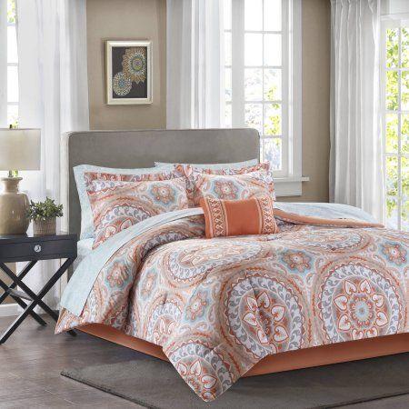 Home In 2020 Comforter Sets Coral Comforter Set Bedding Sets