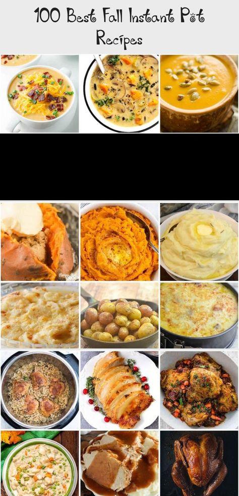 100 Fall Instant Pot Recipes #fall #fallrecipes #recipes #dinner #falldessert #instantpot #pressurecooker #Whole30recipe #Smoothierecipe #Healthyrecipe #Dessertrecipe #Fallrecipe