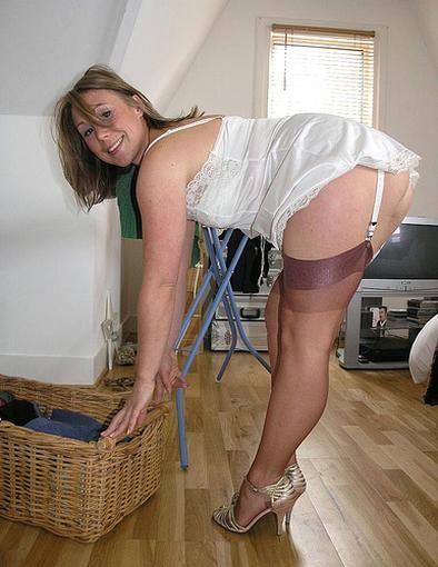 Mature women in stockings