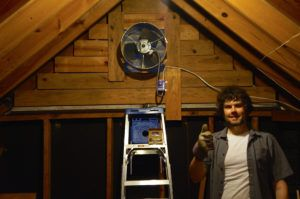 Gable Mounted Attic Fan With Thermostat Attic Fan Gable Vent