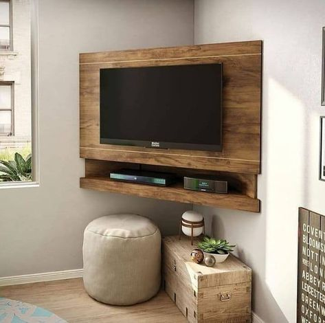 "Woodworking Plans | DIY on Instagram: ""What do you think of this idea? . . Follow @woodworkingscope for more Follow @woodworkingscope for more . . ➖➖➖➖➖➖➖➖➖➖ #woodworkingporn…"" Corner Tv Unit, Living Room Tv Unit Designs, Woodworking Plans Diy, Tv Unit Decor, Home Room Design, Home Decor Kitchen, Tv Room Design, Home Decor, Home Design Plans"