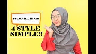 Tutorial Hijab Paris Segi Empat Berkacamata