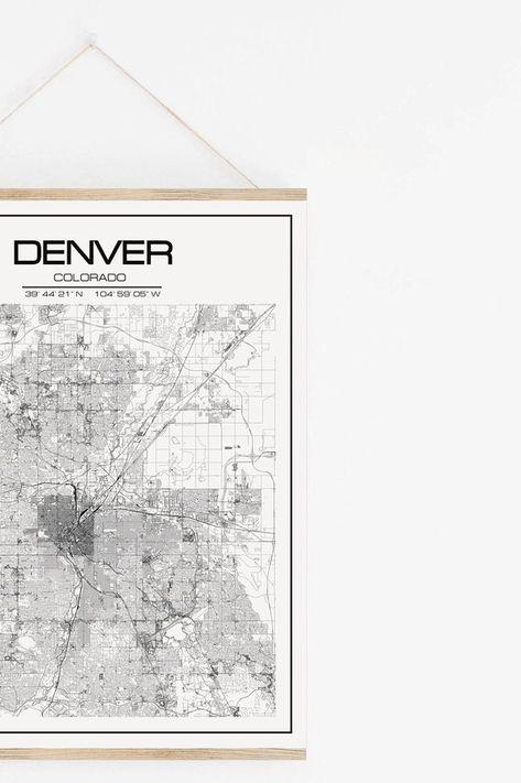 Denver World Map.Denver Map Usa Map Gift Ideas Travel Map Denver Print Denver