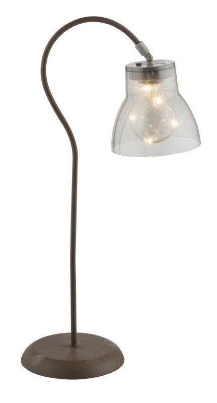 LED Design Solarleuchte Weiß Tischleuchte Solarlampe Solar Tisch Lampe Leuchte