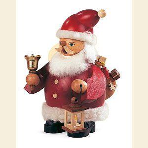 German Christmas: Smoker Santa Claus - 14cm / 6 inch