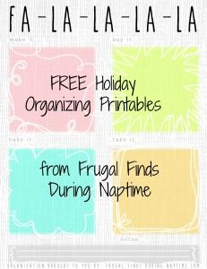 FREE Holiday Printables to help you with Black Friday!