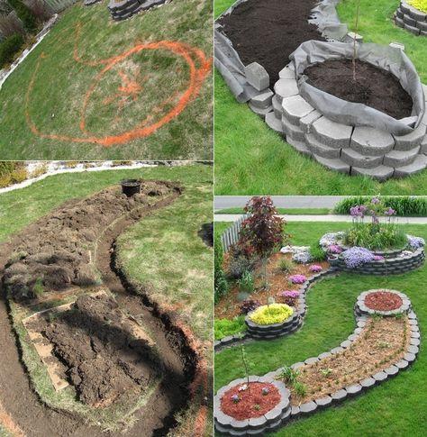 Gardening Island Bed Garden Design Sloped Garden Garden