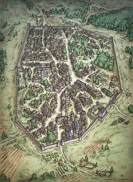 An Iconic D&D City Digital $2 in 2020 Fantasy world map Fantasy city map Fantasy city