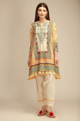 Khaadi Beige Winter Collection 2018 Price in Pakistan famous brand online shopping, luxury embroidered suit now in buy online & shipping wide nation.