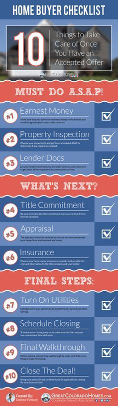 10-Steps Once Your Offer is Accepted & Under Contract