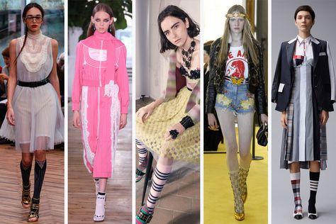 (L-R): Prada, Valentino, Antonio Marras, Gucci and Thom Browne.