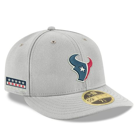 special for shoe famous brand undefeated x Men's New Era Gray Houston Texans Crafted in the USA Low Profile ...