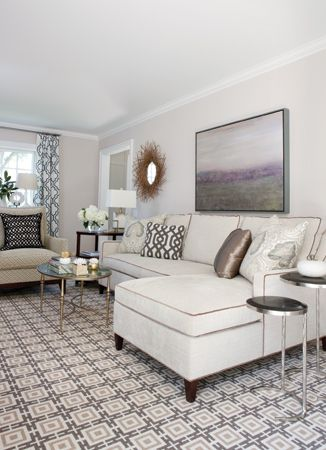 a sectional from the charles stewart company | off white sectional