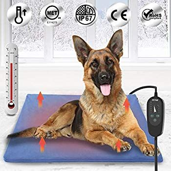 Upgraded Pet Heating Pad For Dogs Cats With Timer Safety Cat Dog Heating Pad Waterproof Electric Heated Cat Do In 2020 Pet Heating Pad Heated Pet Beds Dog House Heater