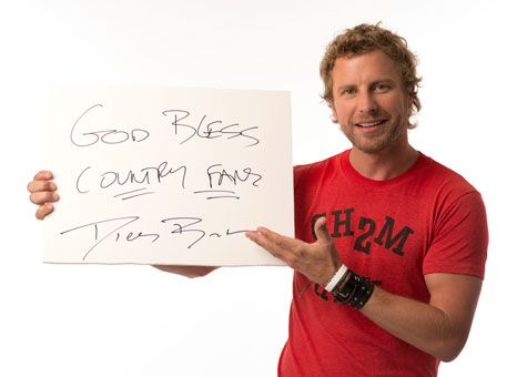 CMA Fest 2012 - The annual gathering of country music artists and fans is underway, and once again USA TODAY has invited the stars into our LP Field studio. This year, we're asking them to send out a written message. Dierks Bentley acknowledged all country music fans.