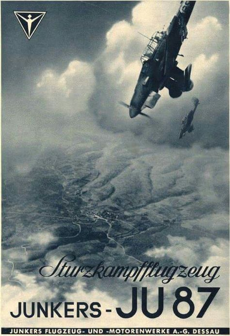 Junkers promotional poster, note the word Sturzkampfflugzeug meaning dive bomber…