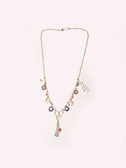 كوليه ذهب عيار 18 كولية ذهب به لعب ملونة خصم 10 على المصنعية Flawer Jewelry Jewelrymaking Love Women Pendant Jewelry Necklace