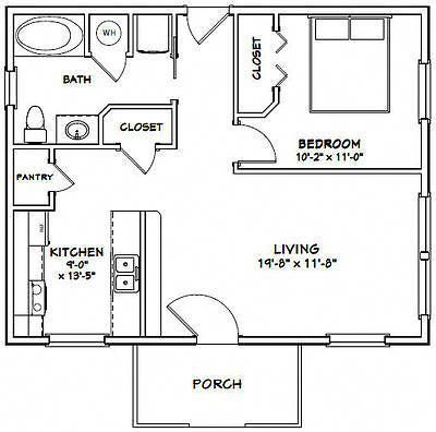 8x16 Tiny House Floor Plan Sample From The Book Tiny House Floor