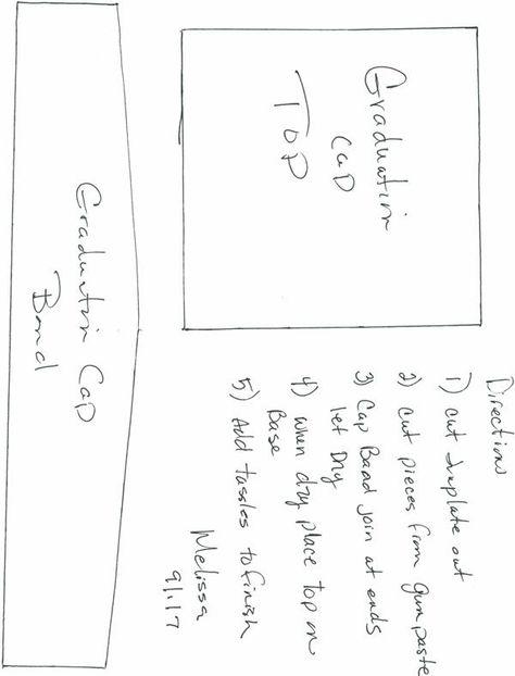 Gradutation Cap Template Sketches Patterns Templates Graduation Cap Graduation Hat Templates Printable Free