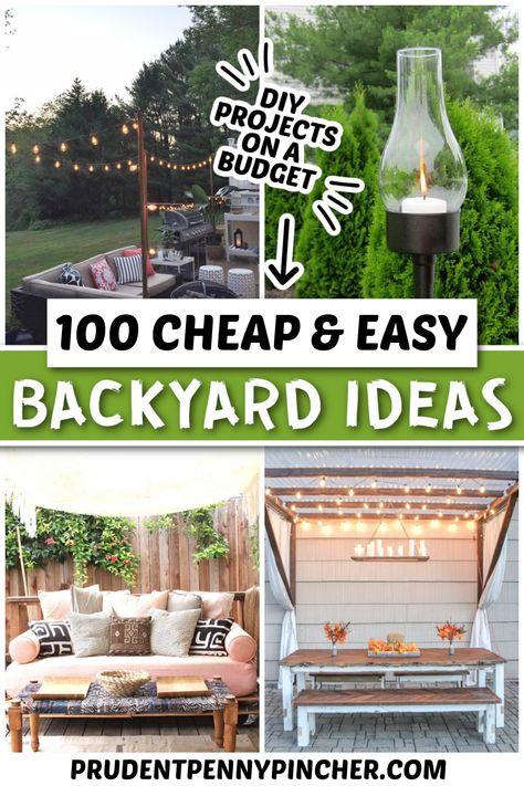 100 Easy DIY Backyard Ideas on a Budget