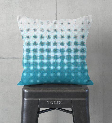 Cuscini Azzurri.Cuscino Di Tiro Morbido E Accogliente Per Una Casa Moderna